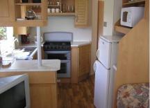 kuchyň v mobilním domě