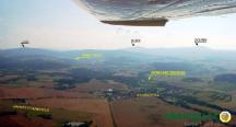 Letecký snimek lokality