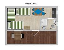 3L chata LADA s vlastní kuchyňkou a sociálním zařízením