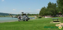 akce v kempu-vrtulník