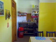 Camping Paradijs - apartmán - kuchyňka