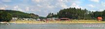 pohled na pláž - panorama