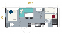 Mobilní dům 4lůžkový(4B Mobilhome)