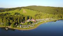 Camping Frymburk letecký pohled